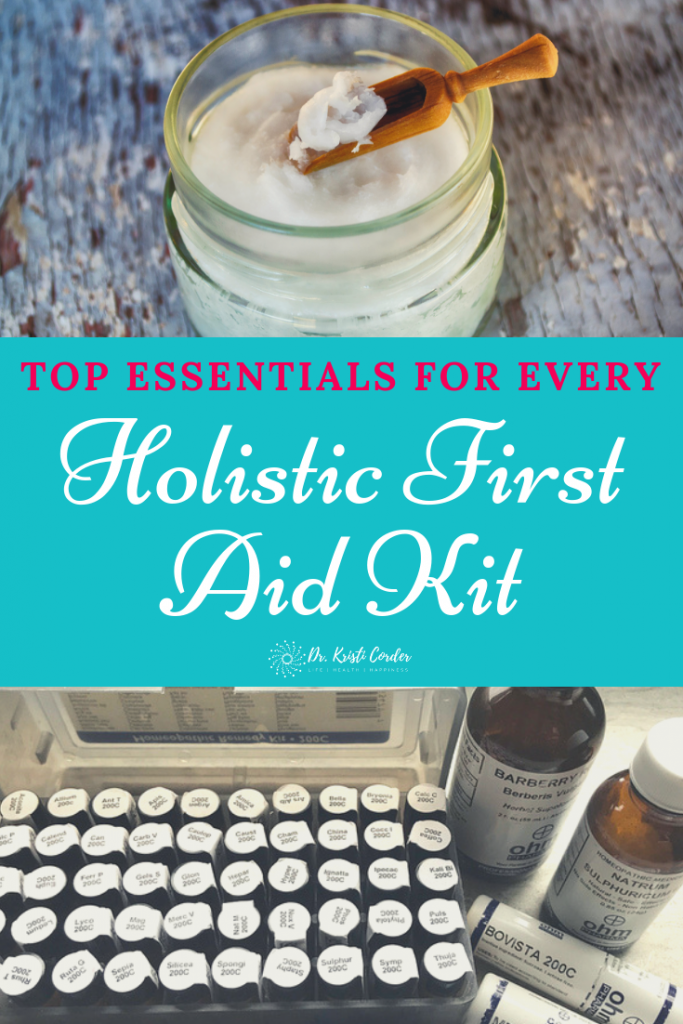 holistic first aid kit pin image