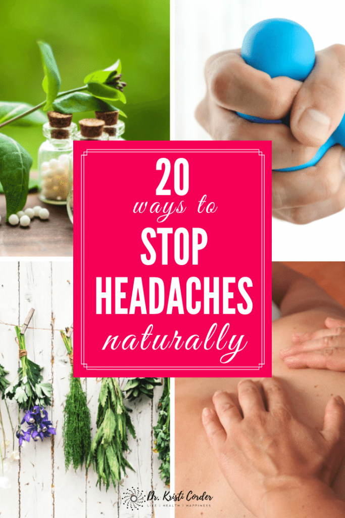 20 ways to stop headaches naturally pin 2