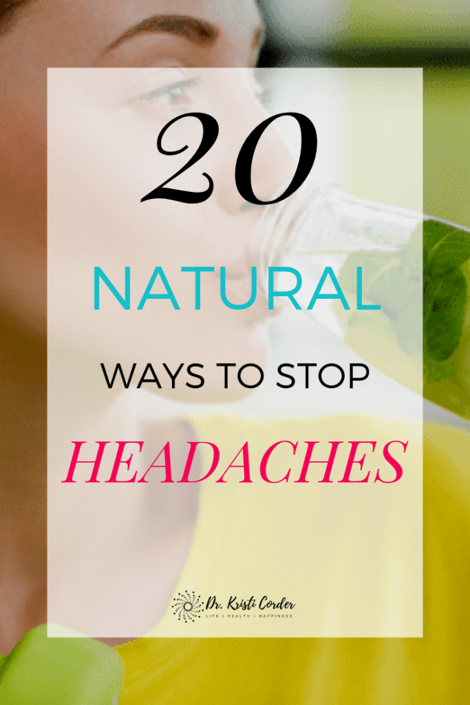 20 Ways to Stop Headaches Naturally pin image