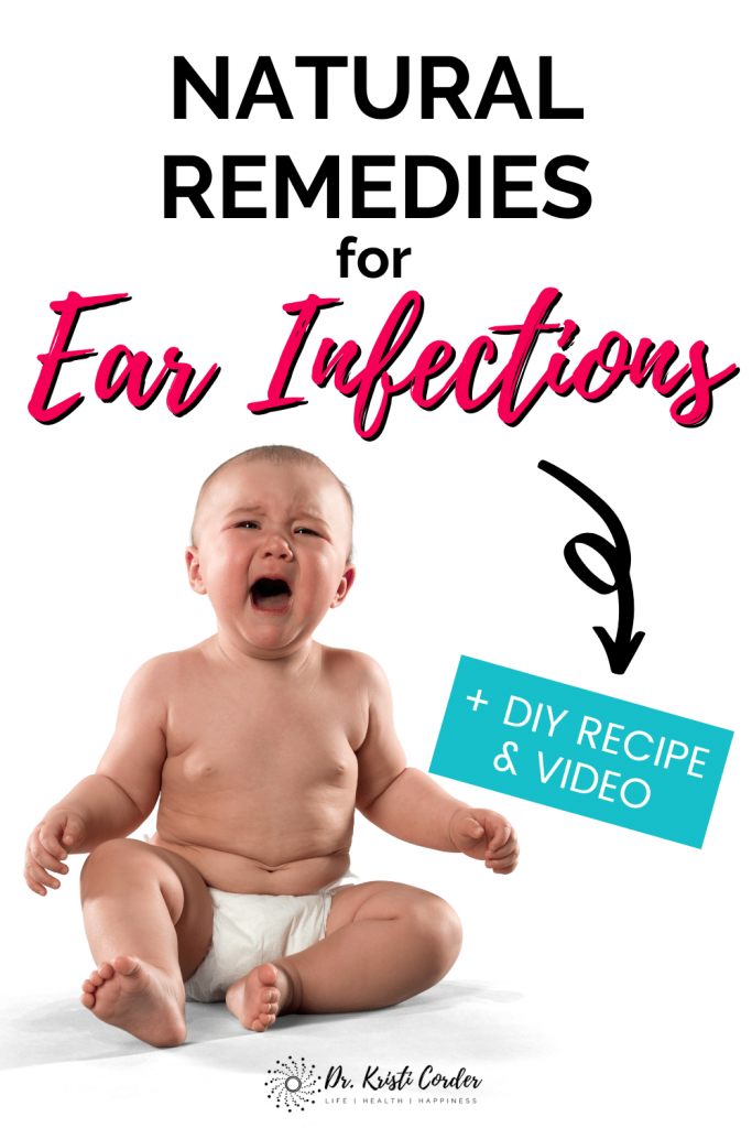 Natural Remedies for Ear Infections pin image