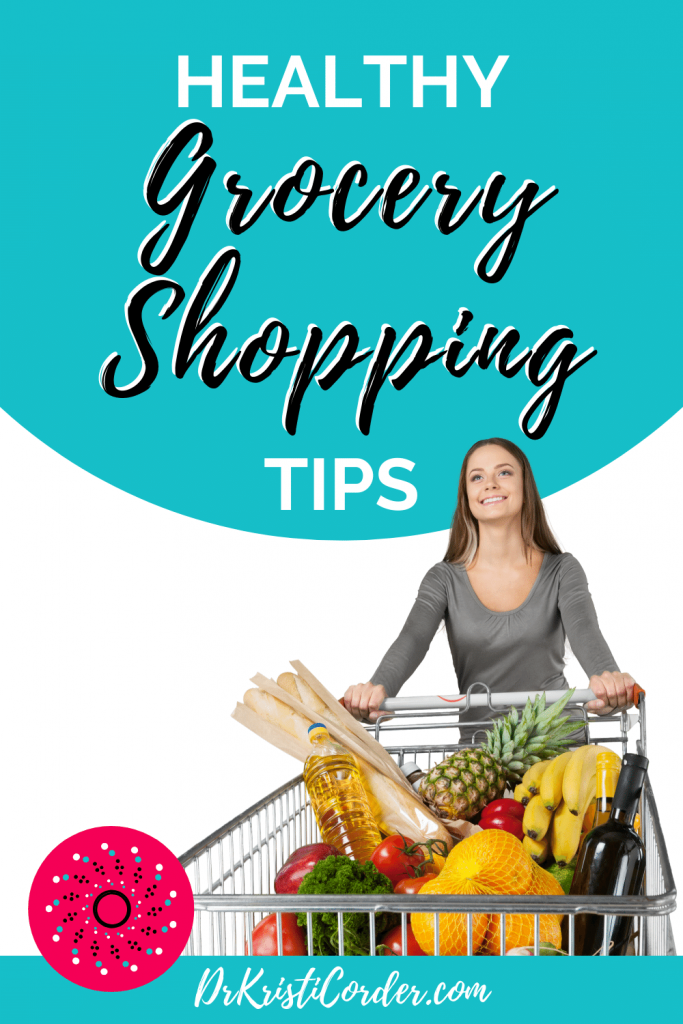 Healthy Grocery Shopping Tips pin image