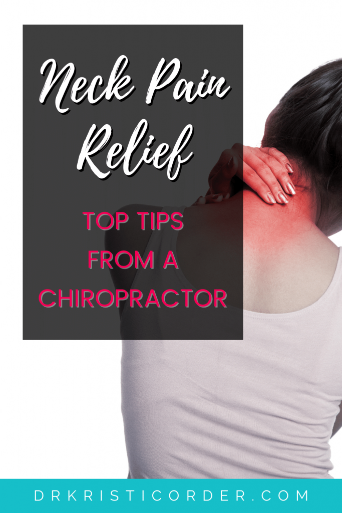 Neck pain relief pin image